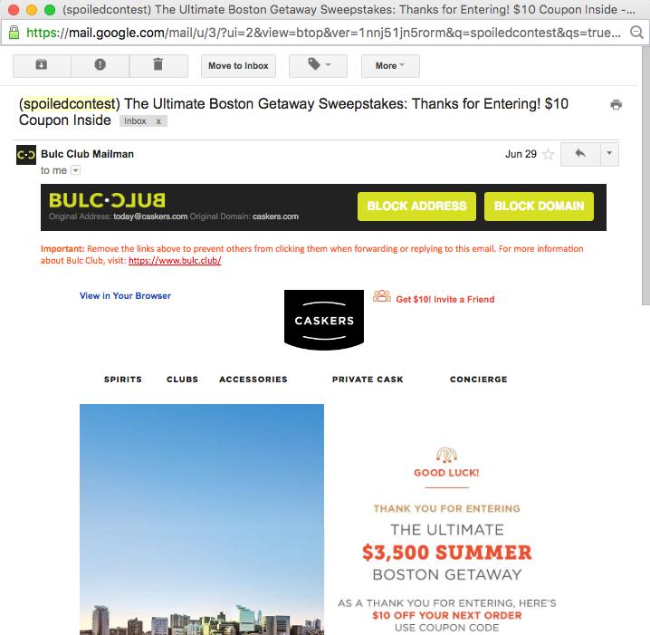 Block Address or Domain