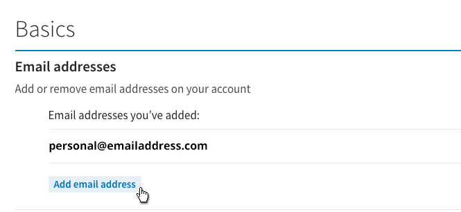 LinkedIn - Add Email Address