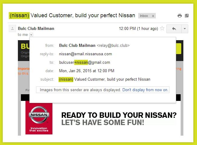 Bulc Club and Gmail Aliases