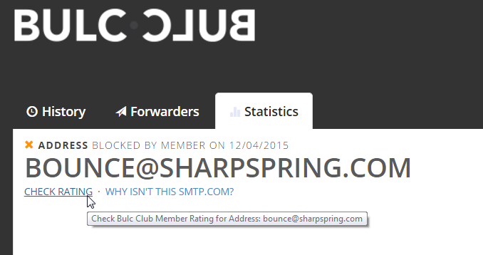 Check Bulc Club Member Rating for Addresses and Domains