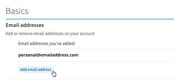 LinkedIn - Add Email Address