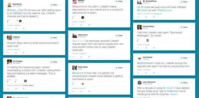 Tweets about LinkedIn Spam