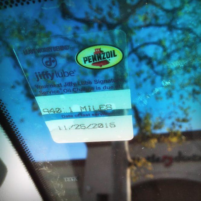 Jiffy Lube Sticker