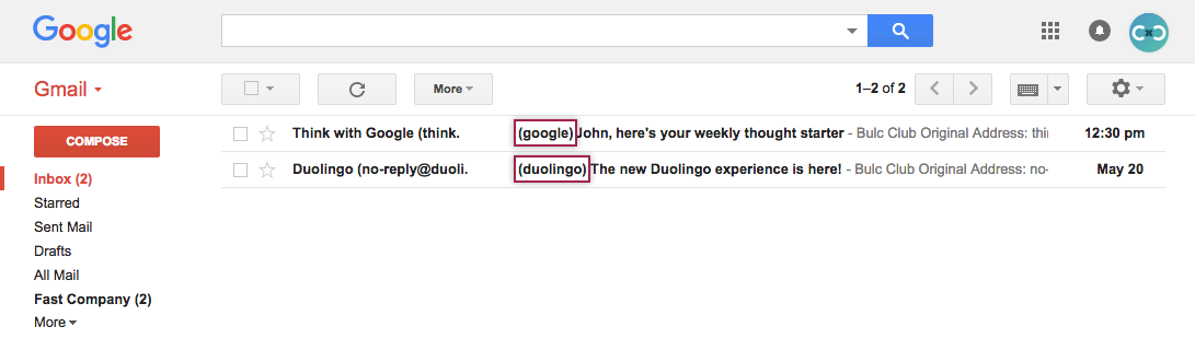Matching Aliases in Gmail