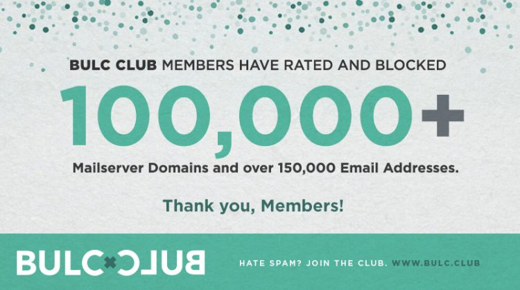 100,000+ Mailserver Domains Rated and Blocked